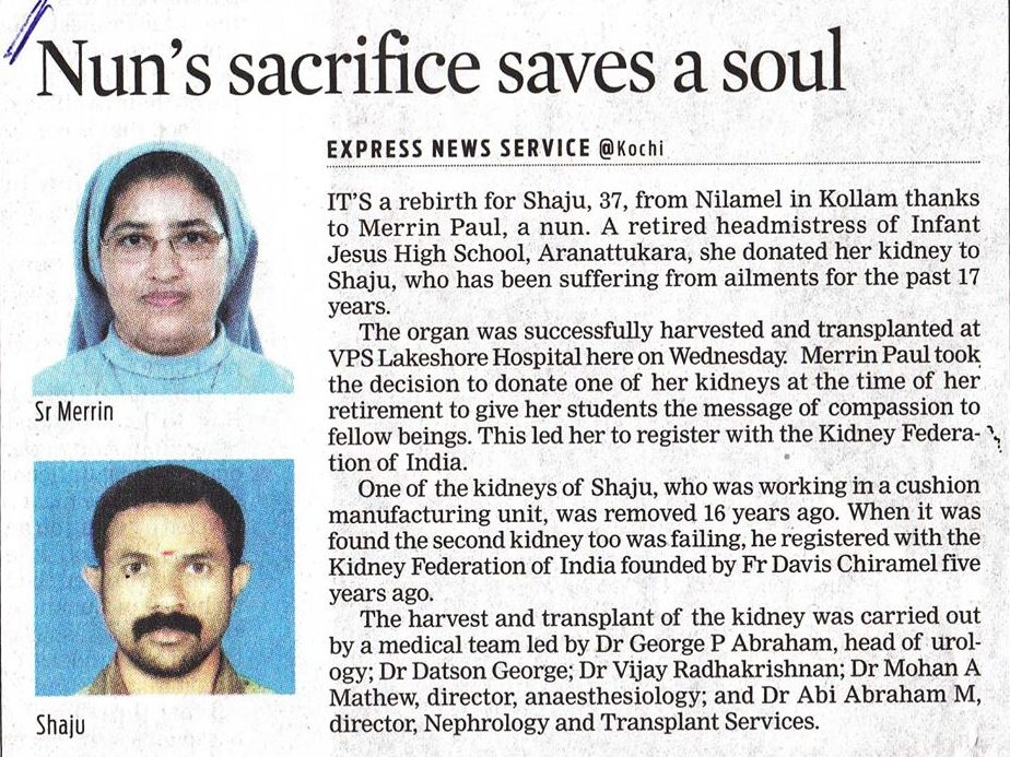 Nun's sacrifice saves a soul